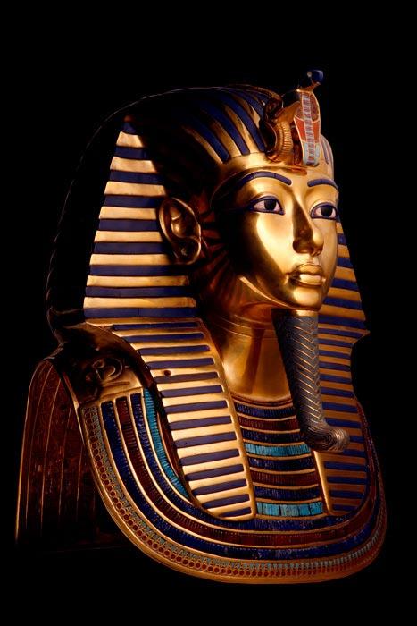 The golden mask of Tutankhamun.