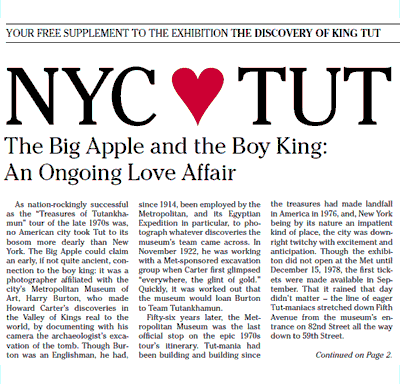 NYC loves King Tut